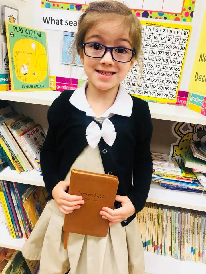 Image of Harley Isabel Smith Dressed Up as a Pastor at School Future Career Day