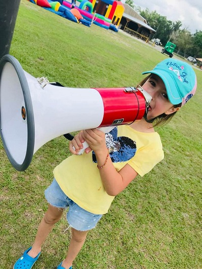 Image of Harley Isabel Smith with a Megaphone