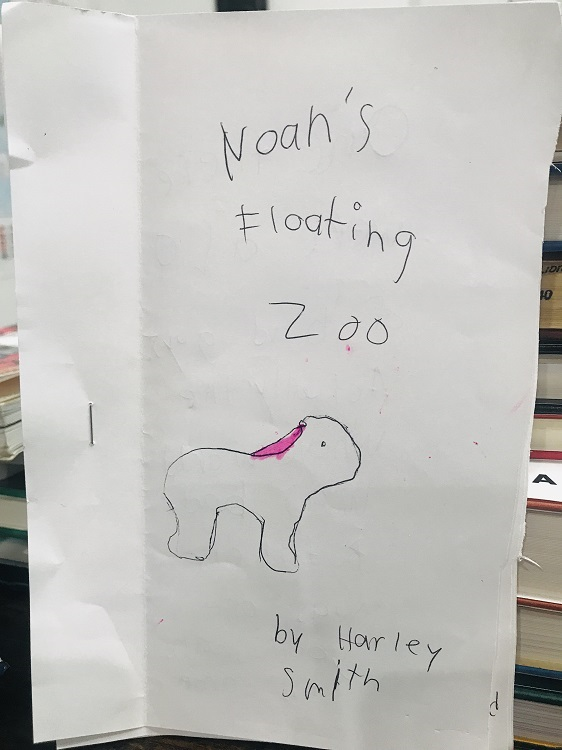 Picture of Noahs Floating Zoo Cover Page by Author Harley Isabel Smith for Unpublished Works Page