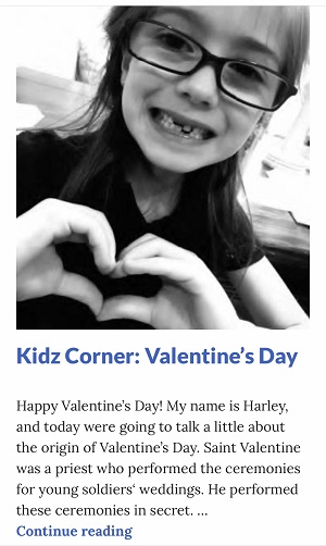Picture of Harley Isabel Smith Making Heart Sign with Hands for Feb 2020 Valentines Day Article for Dunndeal Publications