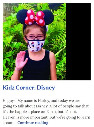 Picture of Harley Isabel Smith Wearing Minnie Mouse Ears for Dec 2020 Disney Article for Dunndeal Publications